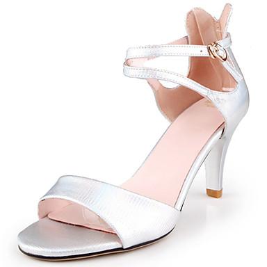 Női Cipő PU Tavasz / Nyár Formai cipő / Magasított talpú / Kényelmes Szandálok Tűsarok Lábujj nélküli Csat mert Hivatal és karrier /
