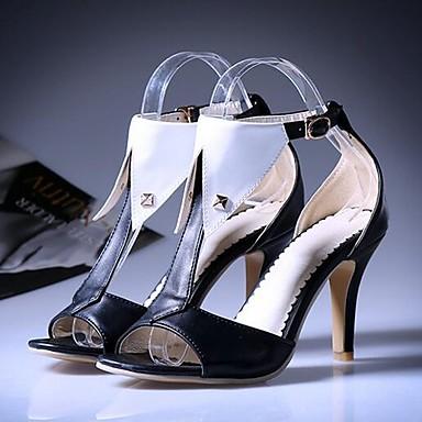 Damen Schuhe PU Sommer Komfort Gladiator Sandalen Für Normal Weiß Schwarz