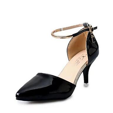 Damen Schuhe Echtes Leder PU Sommer Komfort Pumps High Heels für Normal Weiß Schwarz Rosa