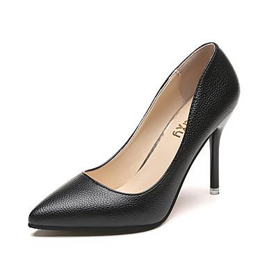 Damen High Heels Komfort PU Sommer Weiß Schwarz Rosa 10 - 12 cm