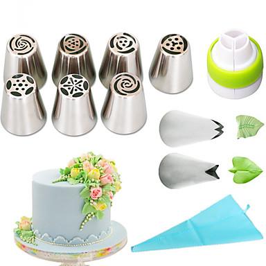 halpa Leivontavälineet-1set Ruostumaton teräs + A luokka ABS Ekologinen Päivittäiskäyttöön kakku Muotit Bakeware-työkalut