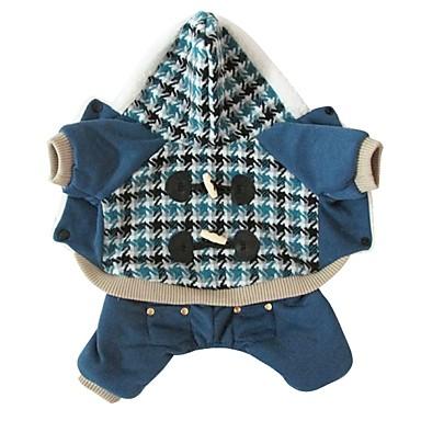 Hund Kostüme Hundekleidung Cosplay Plaid/Karomuster Rot Blau
