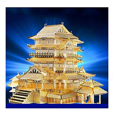 3D Puzzle Metal Puzzle Model Building Kit Famous buildings DIY Metalic Kid's Adults' Unisex Boys' Girls' Toy Gift