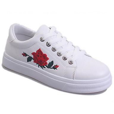 Damen Schuhe Karbon Frühling Komfort Sneakers Für Normal Weiß Schwarz