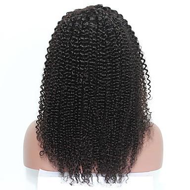 Remy haj Csipke Paróka Mongol haj Kinky Curly Tincselve 120% Sűrűség Természetes hajszálvonal / 100% kézi csomózású Női 10 hüvelyk / 12 hüvelyk / 14 hüvelyk Emberi hajból készült parókák