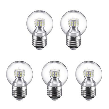 5pcs 3 W 250 lm E27 LED Globe Bulbs G45 24 LED Beads SMD 2835 Warm White / Cold White 220 V / 5 pcs