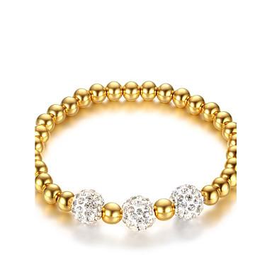 Női Kocka cirkónia Kocka cirkónia Lánc & láncszem karkötők - Vintage elegáns Divat Circle Shape Arany Karkötők Kompatibilitás Esküvő