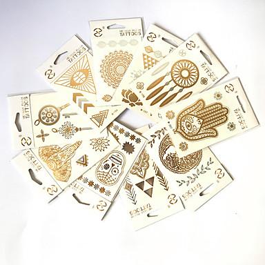 10 pcs Tetkó matricák ideiglenes tetoválás Totem sorozat / Állatos sorozatok / Virág sorozat Vízálló Body Arts kezek / kar / csukló