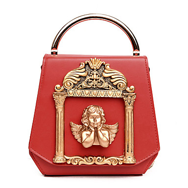 Women's Bags PU Tote for Wedding / Event / Party / Formal White / Black / Red