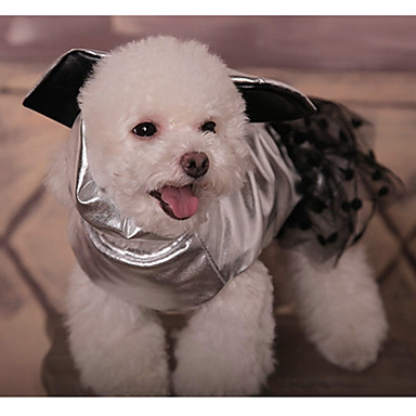 Dog Dress Dog Clothes Polka Dot Gold / Silver Cotton Costume For Pets Men's / Women's Casual / Daily