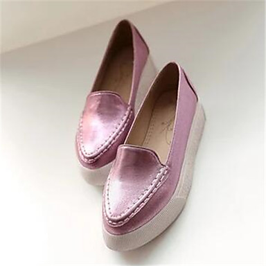 Damen Schuhe Lackleder Frühling Komfort Loafers & Slip-Ons Für Normal Gold Silber Rosa