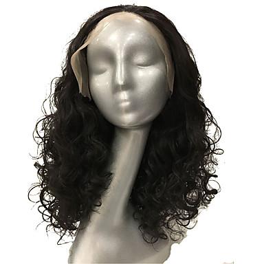 للنساء الاصطناعية الباروكات دانتيل في الأمام متوسط مجعد متوسطةبني متوسط للنساء السمراوات شعر مستعار أفرو-أمريكي شعر مستعار طبيعي زي