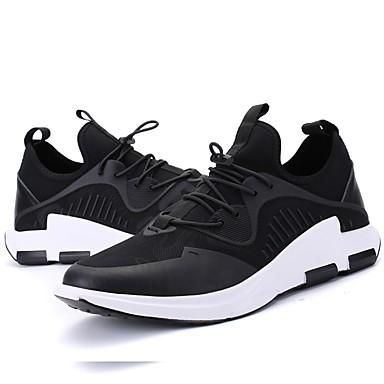 للرجال أحذية حياكة شتاء خريف نعال خفيفة أحذية رياضية إلى رياضي فضفاض الأماكن المفتوحة أسود أسود/أحمر