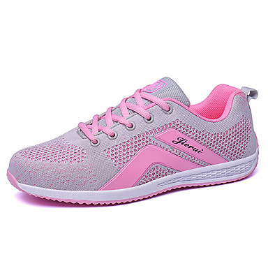 Women's Shoes Tulle Spring / Fall Comfort Athletic Shoes Golf Shoes Flat Heel / Platform Round Toe Lace-up Black / Dark Blue / Gray