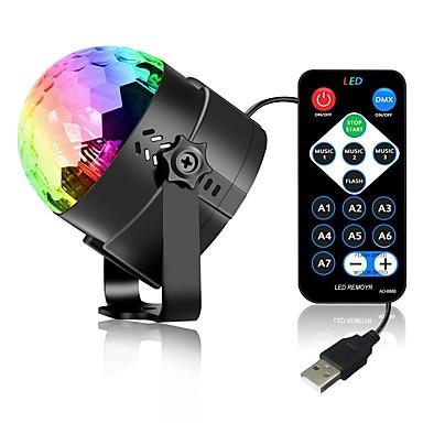 3 W 3 LED Dekoratív Távvezérlésű LED reflektorok RGB DC5