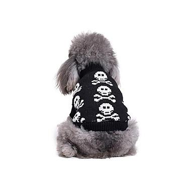 Hund Pullover Hundekleidung Knochen Baumwolle Kostüm Für Haustiere Herrn Damen Lässig / Alltäglich
