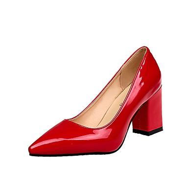 Per donna Scarpe PU (Poliuretano) Estate Comoda Tacchi Heel di blocco  Appuntite Rosso   Rosa   Borgogna   Formale 28340793fe6