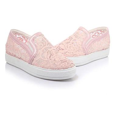 Damen Schuhe PU Frühling Sommer Komfort High Heels für Normal Weiß Schwarz Leicht Rosa