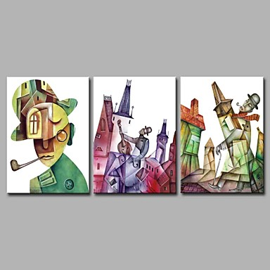 Print Stretched Canvas - Abstract Artistic / Geometric / Abstract Three Panels