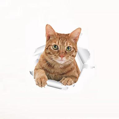 Hayvanlar Moda Karton Duvar Etiketler Uçak Duvar Çıkartmaları Dekoratif Duvar Çıkartmaları Tuvalet Çıkartmaları, Plastik Ev dekorasyonu