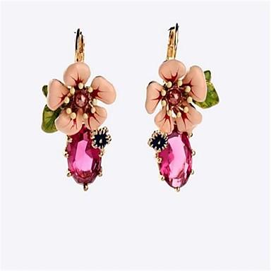 Női Leaf Shape / Virág Beszúrós fülbevalók - Személyre szabott / aranyos stílus / Divat Rózsaszín / Zöld Ovális Fülbevaló Kompatibilitás