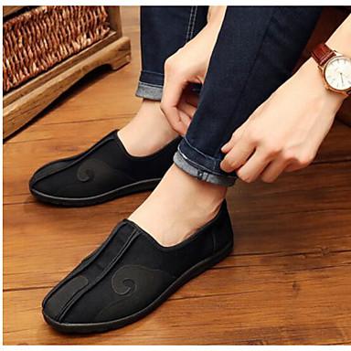 Herren Schuhe Stoff Frühling Komfort Sneakers Für Normal Schwarz