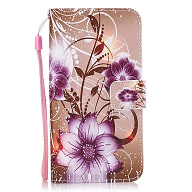 Case Kompatibilitás Huawei P9 Lite Huawei Kártyatartó Pénztárca Állvánnyal Flip Héjtok Virág Kemény PU bőr mert P10 Lite P10 Huawei P9