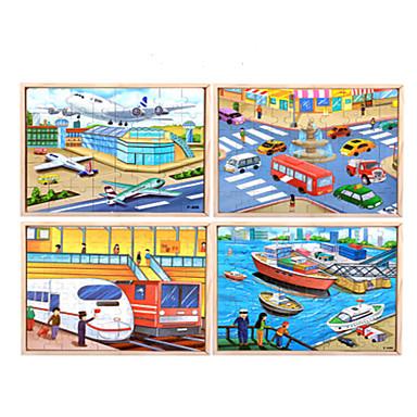 Fejtörő Fából készült építőjátékok Fejlesztő játék Vonat Hajó Truck Gyümölcs Other Fa Anime Rajzfilmfigura Uniszex Ajándék