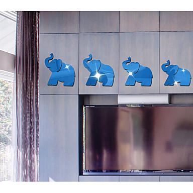 تجريدي حيوانات 3D ملصقات الحائط ملصقات الحائط على المرآة لواصق حائط مزخرفة, أكريليك تصميم ديكور المنزل جدار مائي جدار
