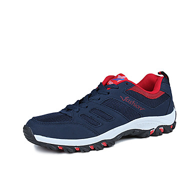 Herrn Schuhe Gummi Frühling Herbst Komfort Sportschuhe Schnürsenkel für Draussen Schwarz Grau Blau