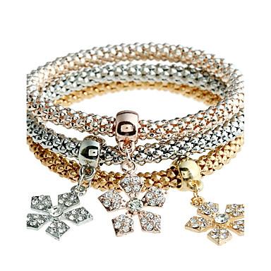 Női Szintetikus gyémánt Strassz Bohém Karperecek - Fémes / Személyre szabott / Bohém Circle Shape Arany Karkötők Kompatibilitás Karácsony