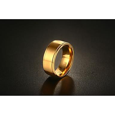 Herrn Gold Bandring - Kreisförmig Kreisform Retro Modisch Simple Style Gold Ring Für Hochzeit Verlobung Alltag