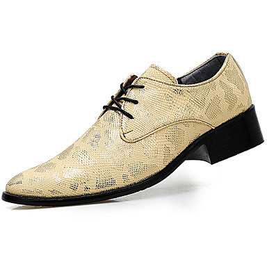 Men's Formal Shoes Patent Leather Fall / Winter Oxfords Gold / Black / Silver / Party & Evening / Dress Shoes