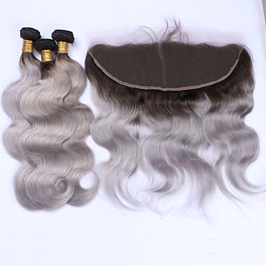 Brazil haj Hullámos haj Emberi haj sző 4 darab Hot eladó Hair Vetülék, zárral