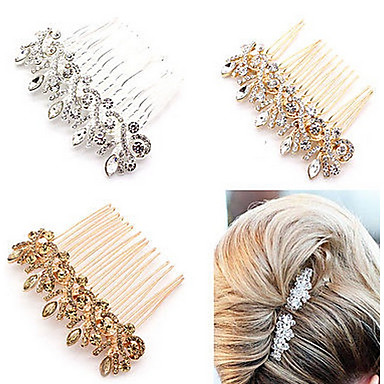 Crystal / Alloy Hair Combs / Headwear / Hair Stick with Floral 1pc Wedding / Special Occasion / Anniversary Headpiece