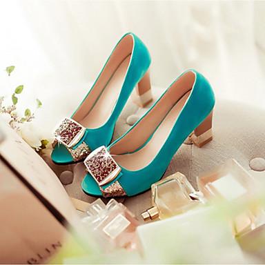 Damen Schuhe PU Sommer Komfort Sandalen Blockabsatz Für Normal Schwarz Marinenblau Rot Blau