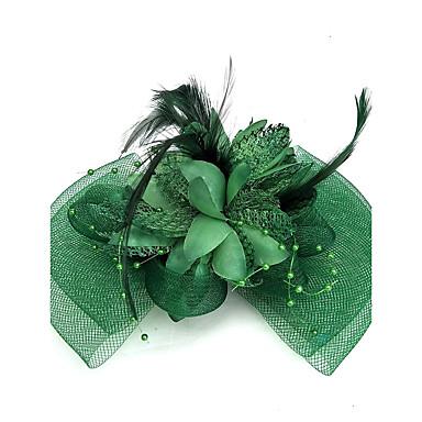 billige Hodeplagg til fest-Nett fascinators / Hatter / Hodeplagg med Blomster 1pc Bryllup / Spesiell Leilighet Hodeplagg