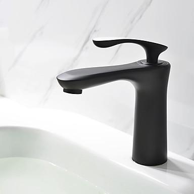 Künstlerisch Mittellage Keramisches Ventil Einhand Ein Loch Öl-riebe Bronze, Waschbecken Wasserhahn