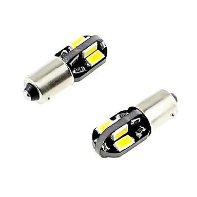 2pcs 2.5w weißes dc12v t10 8led 5730smd geführtes Selbstlampen-Autoinstrumentlicht dekoratives Lampen-Leselicht-Kfz-Kennzeichen-helle