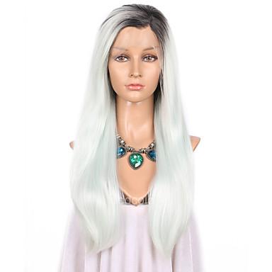 Synthetische Perücken Glatt Natürlicher Haaransatz Damen Spitzenfront Natürliche Perücke Lang Synthetische Haare