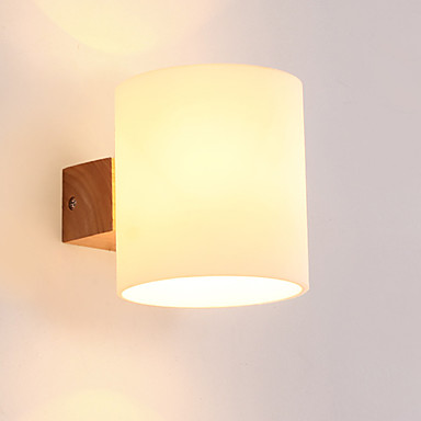 OYLYW Mini Style Simple / LED / Modern / Contemporary Wall Lamps & Sconces Living Room / Bedroom Wood / Bamboo Wall Light 220V 60 W / E27