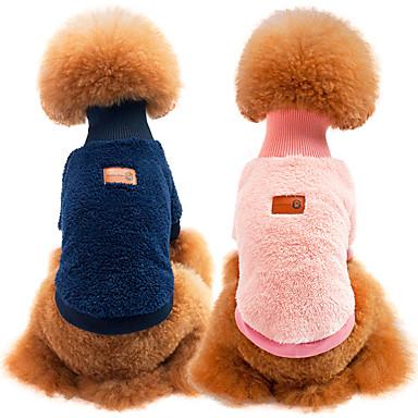 Cica Kutya Pulóver Kutyaruházat Egyszínű Zöld Kék Rózsaszín Khakizöld Anyag Jelmez Háziállatok számára Casual/hétköznapi Melegen tartani