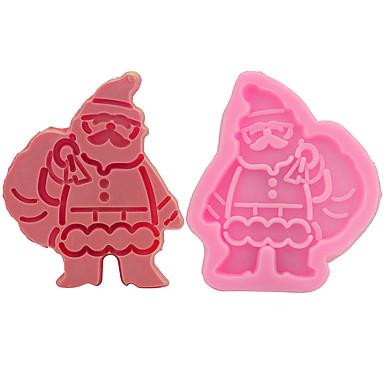 süteményformákba Karácsony Cake Csokoládé Kenyér Mert főzőedények Silica Gel DIY Karácsony Jó minőség Sütés eszköz