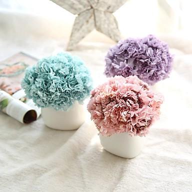 Künstliche Blumen 1pcs Ast Europäischer Stil Nelken Tisch-Blumen