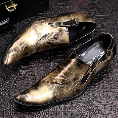 Men's Formal Shoes Nappa Leather Fall / Winter Oxfords Hiking Shoes Gold / Red / Party & Evening / Novelty Shoes / Dress Shoes
