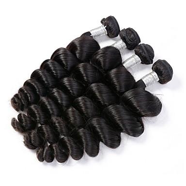 4 zestawy Włosy brazylijskie Luźne fale Włosy remy Człowieka splotów włosów Ludzkie włosy wyplata Ludzkich włosów rozszerzeniach