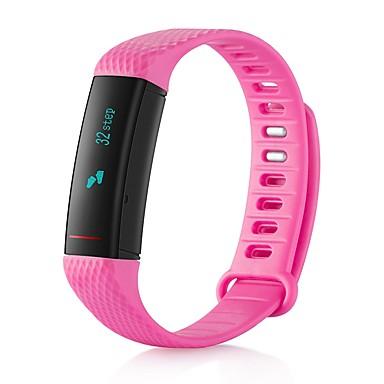 Intelligens karkötő Érintőképernyő / Szívritmus monitorizálás / Vízálló Pulse Tracker / Lépésszámláló / Testmozgásfigyelő Bluetooth 4.0