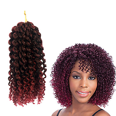 Braiding Hair Jerry Curl Curly Braids 100% kanekalon hair / Kanekalon Hair Braids 100% kanekalon hair / There are 3 piece in one pack. Normally 5-6 pack are enough for a full head.