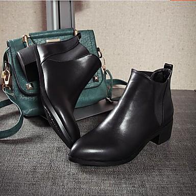 Damen Schuhe PU Herbst Winter Komfort Stiefel Für Normal Schwarz