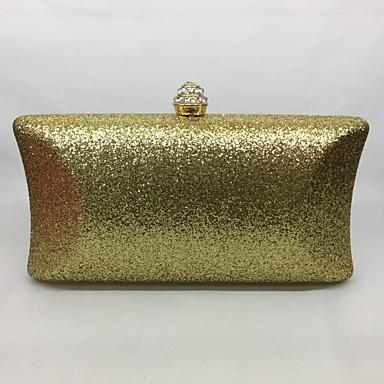 Damen Taschen Ganzjährig Metall Abendtasche für Veranstaltung / Fest Champagner Gold Schwarz Silber